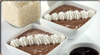 Arroz con leche y chocolate